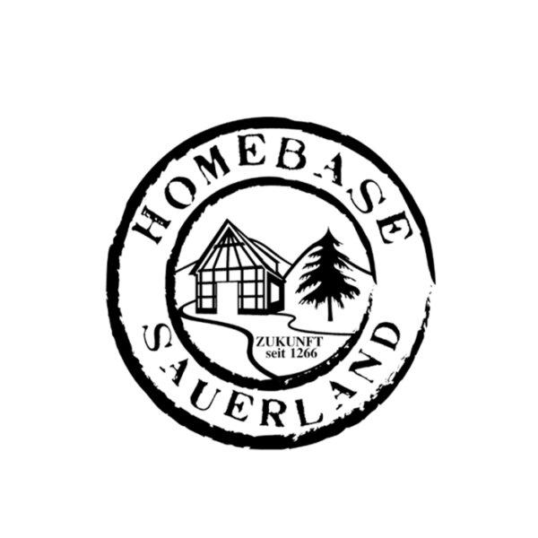 Der Homebase Sauerland Aufkleber in schwarz.