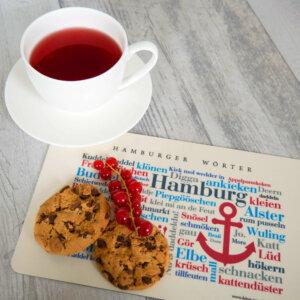 Die schönsten Wörter aus der Hansestadt Hamburg auf einem Brettchen vereint