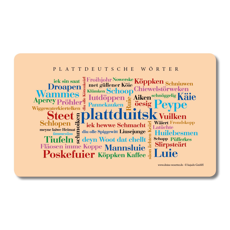 Plattdeutsche Wörter
