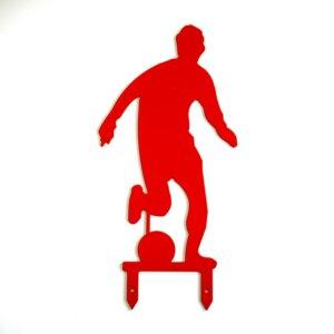 Das rote Fußball-Männchen für den Garten.