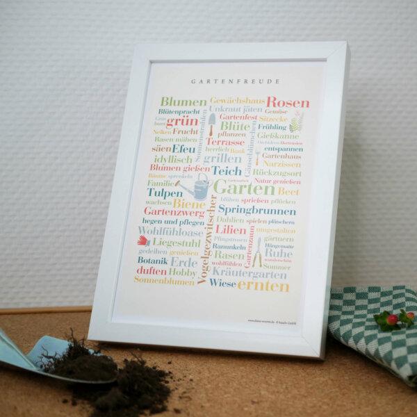 Raus in den Garten - Poster mit Gartenwörtern