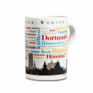 Der Kaffeebecher mit den Dortmunder Wörtern.