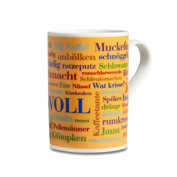 Der Kaffeebecher mit den Sauerländer Wörtern.