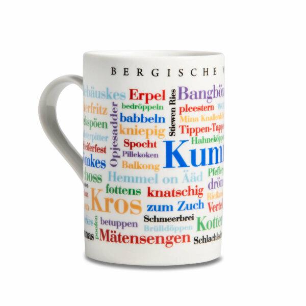 Kaffeebecher Tasse Bergische Wörter Henkel links