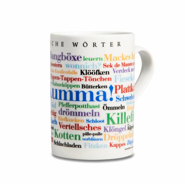Kaffeebecher Tasse Bergische Wörter  Henkel rechts
