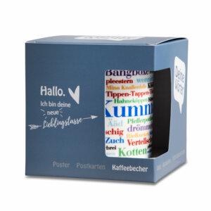 Kaffeebecher Tasse Bergische Wörter mit Verpackung