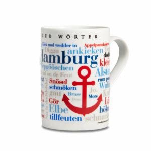 Kaffeebecher - Tasse Hamburger Wörter Rechts