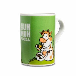 Die Tasse mit der Kuh Muh.