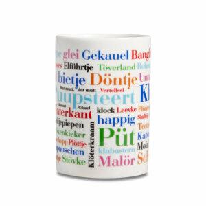 Kaffeebecher Ostfriesische Wörter frontal
