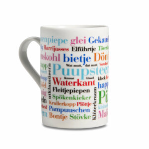 Kaffeebecher Ostfriesische Wörter Henkel links