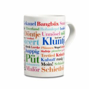 Kaffeebecher Ostfriesische Wörter Henkel rechts
