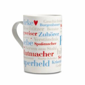 Kaffeebecher Papa Wörter Henkel links