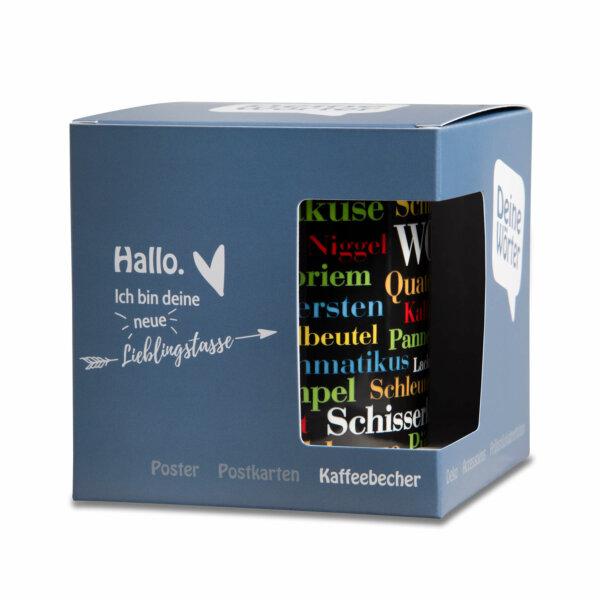Kaffeebecher - Tasse Sauerländer Schimpfwörter mit Verpackung
