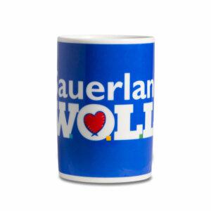 Kaffeebecher Tasse Sauerland,WOLL - frontal