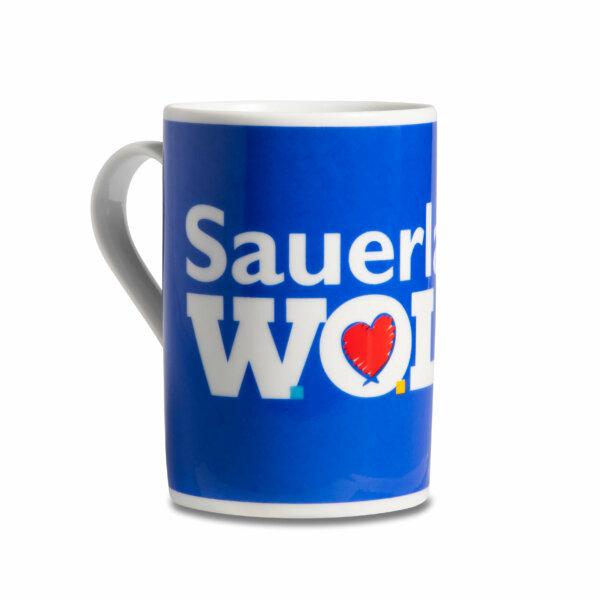 Kaffeebecher Tasse Sauerland,WOLL - Henkel links