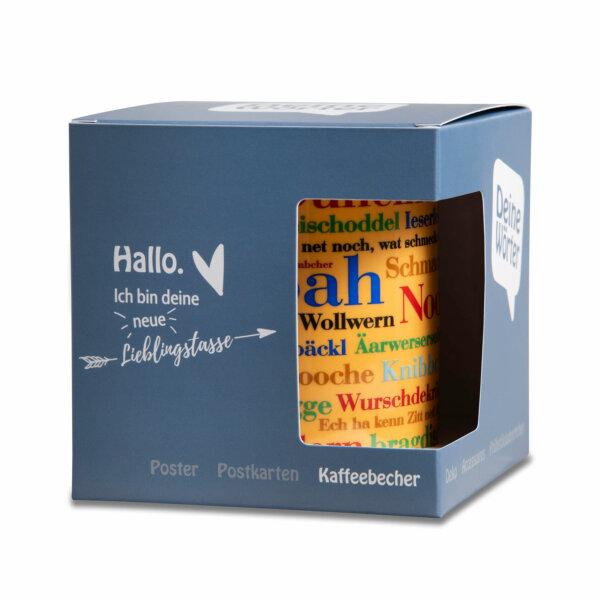 Kaffeebecher Tasse Siegerländer Wörter mit Verpackung