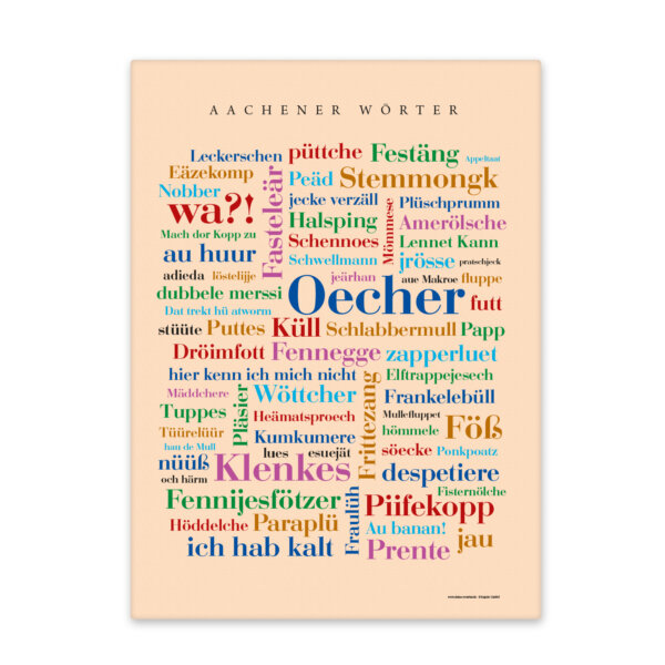 Leinwand Aachener Wörter als schöne Wanddektoration