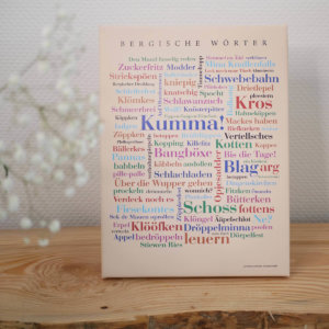 Leinwand Bergische Wörter Keilrahmen Dekoration.