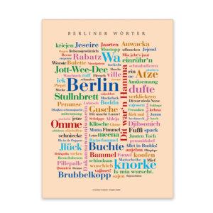 Leinwand Berlin Wörter Keilrahmen Frontansicht
