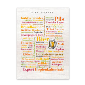 Leinwand Bier Wörter mit Keilrahmen - Frontansicht
