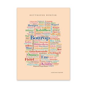 Leinwand mit den schönsten Wörtern Bottrops.
