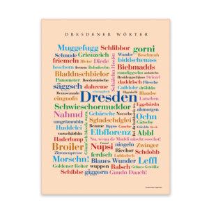 Leinwand Dresden Wörter Keilrahmen Frontansicht