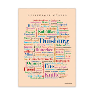 Leinwand Duisburg Wörter Keilrahmen Frontansicht