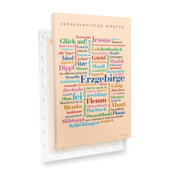 Liebevoll zusammengestellte Wörter aus dem Erzgebirge.