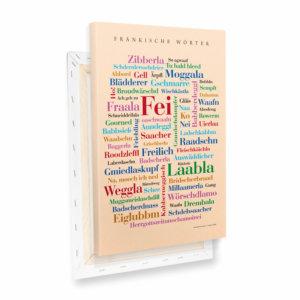 Leinwand Fränkische Wörter Profil