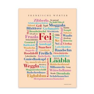 Leinwand Fränkische Wörter Vorderansicht