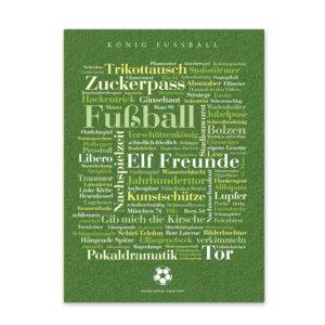 Leinwand Fußball Wörter Frontansicht