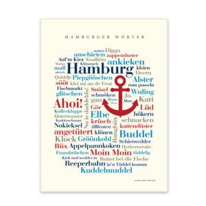 Leinwand Hamburger Wörter Keilrahmen Forderansicht