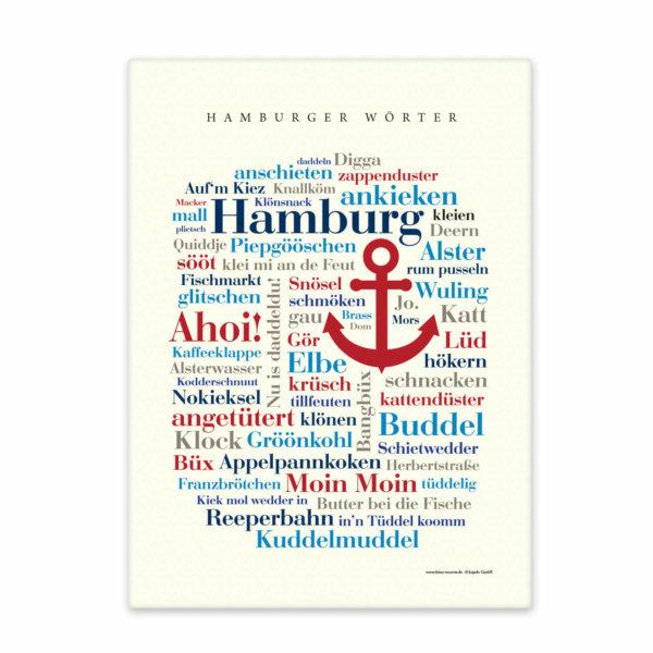 Leinwand Hamburger Wörter Keilrahmen Vorderansicht