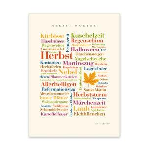 Leinwand Herbst  Wörter Forderansicht