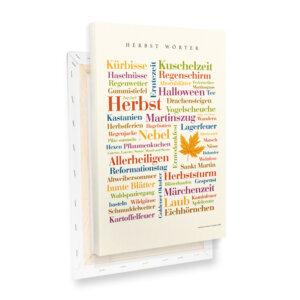 Leinwand Herbst Wörter Profilansicht
