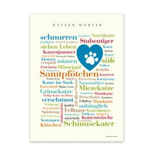 Leinwand Katzen Wörter mit Keilrahmen Frontansicht