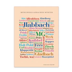 Leinwand Mönchengladbach Wörter mit Keilrahmen Frontansicht