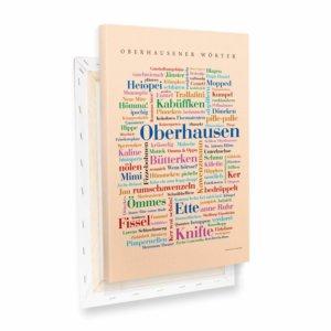 Leinwand Oberhausener Wörter