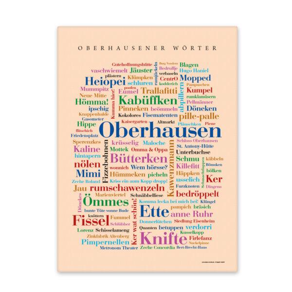 Leinwand Oberhausen Wörter mit Keilrahmen Frontansicht