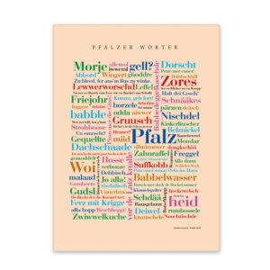Leinwand Pfalz Wörter mit Keilrahmen Frontansicht