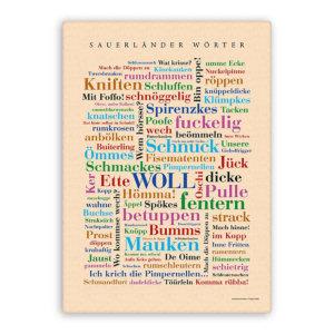 Leinwand Sauerländer Wörter Keilrahmen