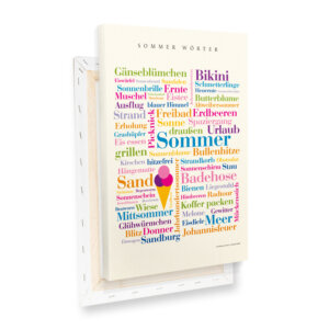 Leinwand Sommer Wörter Profilansicht.