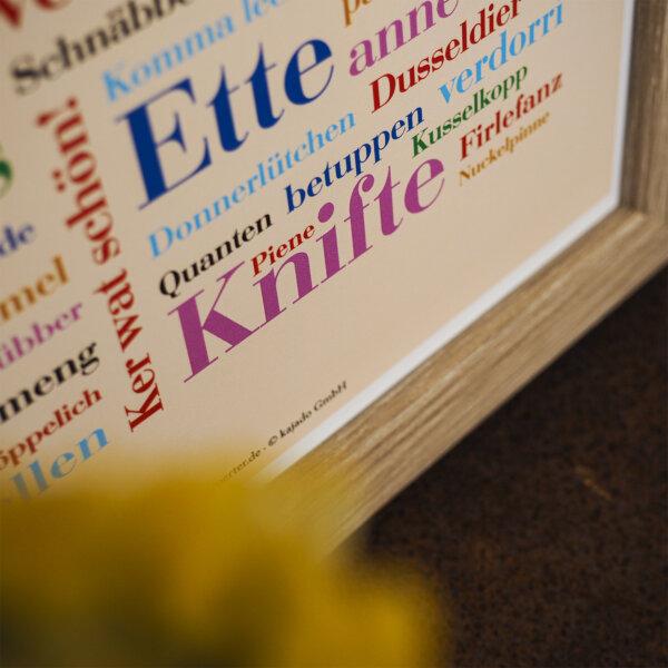 Das Plakat mit den Ruhrpott Wörtern.