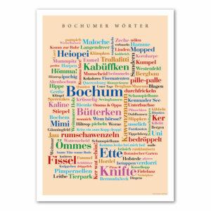 Poster Bochumer Wörter