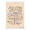 Poster mit den schönsten Wörtern Bottrops.