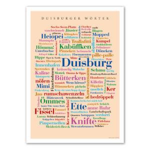 Das Poster Duisburger Wörter.