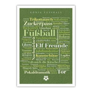 Das Fußball-Poster mit den schönsten, kreativsten, lustigsten und kuriosesten Wörtern aus der Fußballwelt.