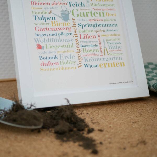 Poster mit Gartenwörtern