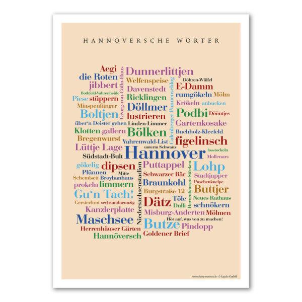 Die Hannöversche Wortart auf einem Poster vereint.