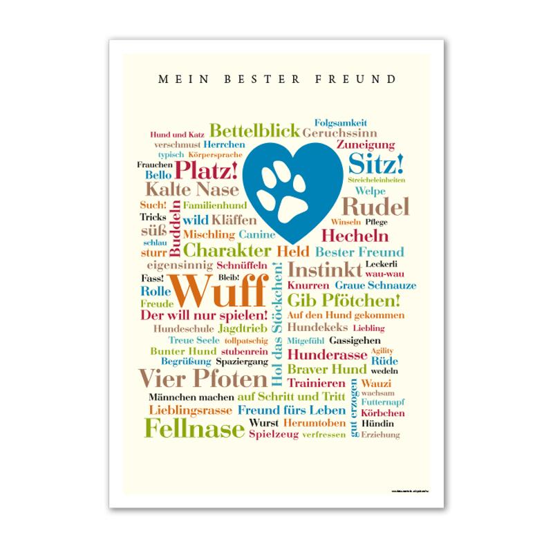 Poster Hunde Wörter